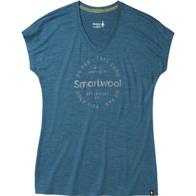 Smartwool Merino Sport 150 Go Far Feel Good T-shirt Dames, marlin blue heather